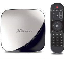 Pendoo 공장 판매 대리점 X88 직업적인 Rk3318 인조 인간 9.0 텔레비젼 상자 텔레비젼 조율사 Ota 갱신 인조 인간 지능적인 텔레비젼 상자를 가진 소형 가정 매체 서버 선수