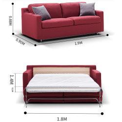 多機能のホーム居間の現代家具のフォールドの余暇ファブリックソファーベッド