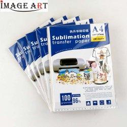 La sublimación de tamaño A4 papel para la ropa de color claro 100 hojas/Pack 20 envases de cartón/