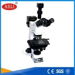 Gran plataforma de análisis metalografía Binocular microscopio con el equipo