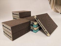 100*70*25мм четыре боковых Sponge-Sanding оксида алюминия с покрытием шлифовальных блоков