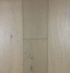 Nova chegada da engenharia de cor branca chão em carvalho de madeira de carvalho Parquet escovado discos sólidos pisos de madeira de folhosas pirogenada piso de madeira de carvalho
