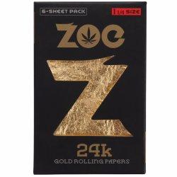A ouro 24K Fumar tabaco Zoe Papel Branco
