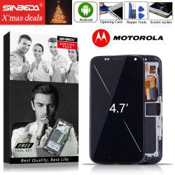 """Sinbeda 4.7 """" Motorola Moto Xt1052 Xt1056 Xt1058 Xt1060 LCDのためのフレームが付いているMotorola Moto Xの表示LCDタッチ画面のための極度のAmoled LCD"""