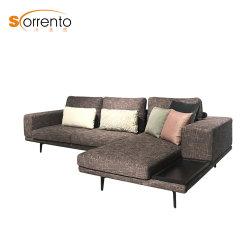 Sala de estar sofás tecido escandinavos móveis domésticos com pernas de metal