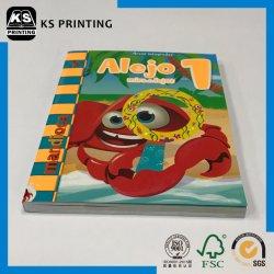 完全な色の印刷は紫外線の子供を斑点を付ける教育ペーパーバックの本