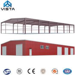 Tempo de alta qualidade Grande Span gradeamento prefabricados Depósito de Estrutura de aço do galpão de armazenagem de oficina