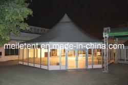Das kampierende einfache Zelt installieren feuerfestes großes luxuriöses Partei-Zelt für Kirche-Lebesmittelanschaffung-Festival-Ausstellung-Bankett Ramadan Messeen-Konferenz-Zeremonie