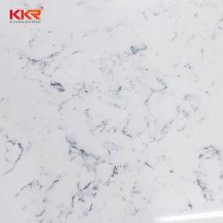 Место на кухонном столе материал полированной мебелью бежевого цвета кварцевого камня