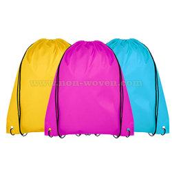 昇進のNon-Wovenを広告することは体操のバックパックのドローストリング袋を遊ばす