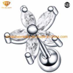ボディLabret (5個の石と) Tp1952の中の刺すような宝石類のステンレス鋼の宝石類のチタニウムの穿孔
