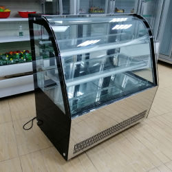 1.5M boulangerie réfrigérés vitrines Vitrines Type japonais de confiserie GÂTEAU pour la vente de refroidisseur d'affichage