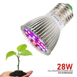 28W полный спектр E27 светодиодный индикатор роста все лампы освещения