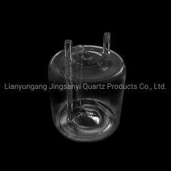Personalizzare la bottiglia del profilato tondo per tubi il doppio di vetro di quarzo