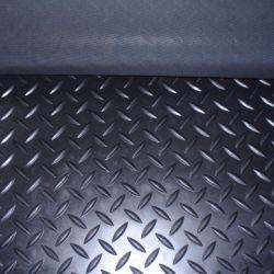 Multa de tiras largas tapete do piso de borracha da calha do verificador de borracha de diamante o tapete do piso