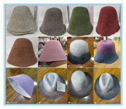 고품질 100% 호주 Wool 펠트 콘 모자 차체 도매 경쟁력 있는 가격
