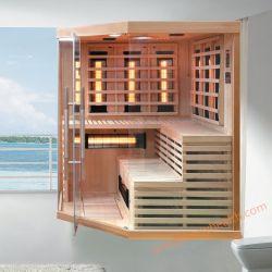 Kreuzspulmaschine-weites Infrarot-trockene Sauna als wärmeres Gerät zur warmen Karosserie, zum von Sorgfalt für Familieen-Gesundheit, reiner Schierling-hölzerner Sauna-Raum zu schwitzen