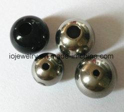 Plaine perles rondes en acier inoxydable pour la gravure de logo