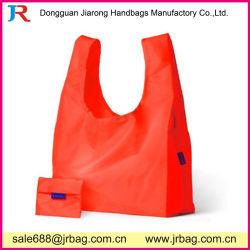 210D polyester Sac shopping pliable de matériel pour l'emballage