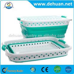 Servicio de lavandería de plástico personalizada Cesta plegable tamaño 62*44,5 x 26,2cm.