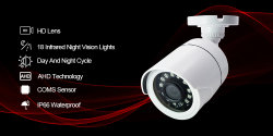 1080P de openluchtCamera's van het Toezicht van kabeltelevisie van de Visie van de Nacht van de Camera van de Kogel van kabeltelevisie van de Veiligheid Analoge Infrarode