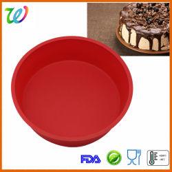 FDA&LFGB Silicone 8 인치 Round Cake Pan Pizza Pan