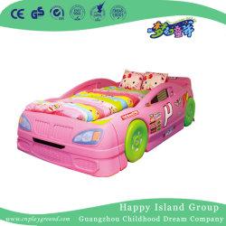 Cartoon rose en plastique en forme de voiture Les enfants de l'école lit pour deux sièges (HG-6201)
