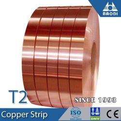 0.1*300mm de espessura C1100 T2 faixa de lâmina de cobre fabricados na China
