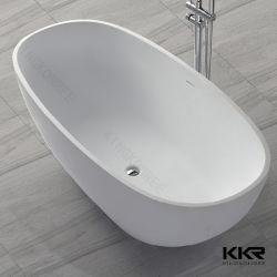 Vasca di bagno indipendente della pietra della resina della mobilia della stanza da bagno