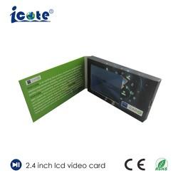 Special 2.4 Zoll kleiner LCD-Bildschirm-Videokarte für Compamy das Bekanntmachen
