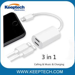 per il iPhone 7/7plus 2 in 1 cuffia della porta doppia 8pin dell'adattatore del cavo audio & cavo del divisore dell'adattatore della carica