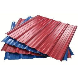 PPGI recubierto de zinc con recubrimiento de color ASTM techo metálico de acero galvanizado de techos de cartón ondulado para las casas de la hoja
