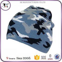 Custom Military Camouflage Camo Beanie kneels to Hats