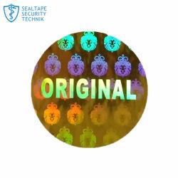 OEM de alimentación de la fábrica de etiquetas autoadhesivas de lucha contra la falsificación de etiqueta holograma personalizado