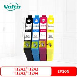 Compatible Epson T1241 T1242 T1243 T1244 Cartouche d'encre couleur pour Stylus NX125 127 130 230 330 420 430