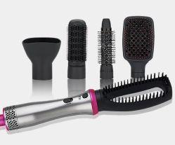 1本の鉄のデジタル陶磁器の毛のストレートナの電気まっすぐなカールの毛の櫛のブラシに付き5本