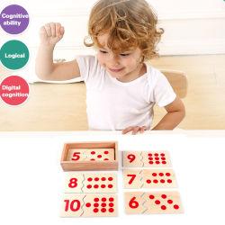 어린이 목재 몬트세소리 수학 번호 퍼즐 베이비키즈 교육용 장난감 조기 학습
