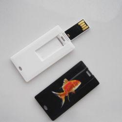 플라스틱 소형 신용 카드 USB 섬광 드라이브, 사업을%s USB 플래시 디스크 명함 디스크 32MB-128GB
