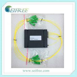 FTTH Fibra Óptica Caixa do módulo divisor CATV (1X6, SC/APC conectores)