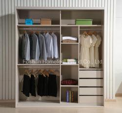 Chambre à coucher en bois personnalisé porte coulissante penderie (HF-IK210B)