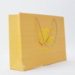 Logo de couleur dorée réticule sac de papier d'estampage à chaud