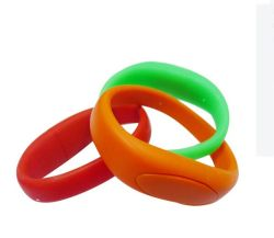 Material PVC coloridos promocionais pulseiras banda disco flash USB 2.0 4 GB / 8 GB / 16 GB / 32 GB / 64 GB Ecológico