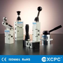 Fabricante Proveedor China Airtac SMC mano tiro pie conmutación Válvula de solenoide de aire neumático de control de flujo