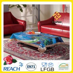 Toile de table transparue en vinyle décoré décoratif décoratif
