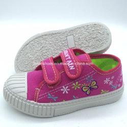 As crianças Calçado Casual sapatos de lona de injecção com fita mágica (HH18422-7)