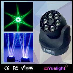 Гуанчжоу горячая продажа Bee глаз света промойте 4в1 RGBW 6ПК 15Вт Светодиодные мини-перемещение головки блока цилиндров