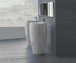 Italian Carrara Natural Bathroom Marble Wash Basin
