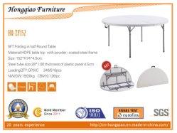 Plastic opvouwbare ronde half tafel, eettafel, tuintafel, hotelmeubels rond Tafel,Kampeertafel,opvouwbare tafel,Home Furniture draagbare tafel (HQ-ZY152)