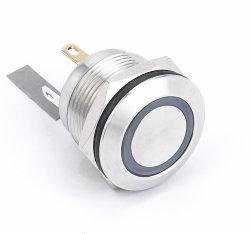 金属19mmはステンレス鋼のLEDによって照らされた押しボタンスイッチをリセットした