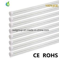 アルミニウムベースおよびプラスチックカバーV形統合されたLED管が付いている1200mm 4FT 28W SMD LEDの管